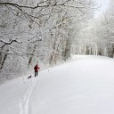 Cross-country skiing in WNC offers breathtaking but limited-time experience