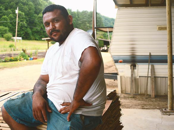Jorge Perez, 31, has been working the fields his whole life. He enjoys it — especially now that he owns his own business.