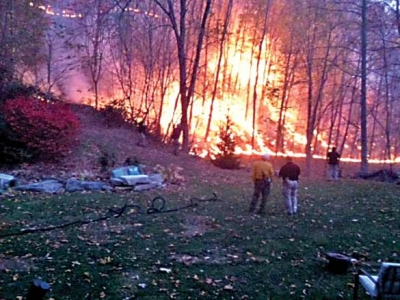 Two arrested for arson in Qualla wildfires