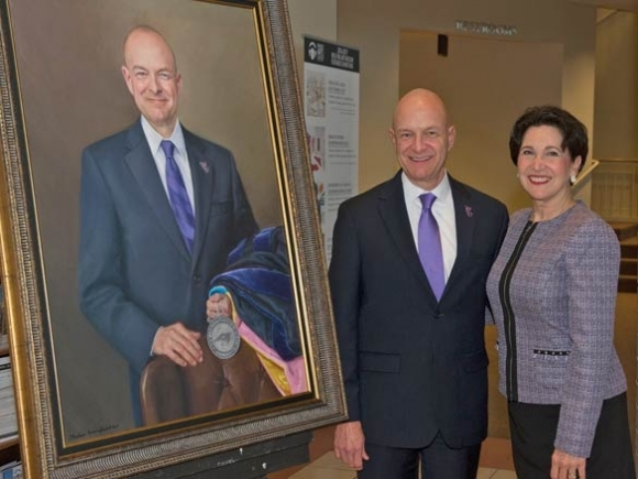 Portrait of WCU's Belcher unveiled