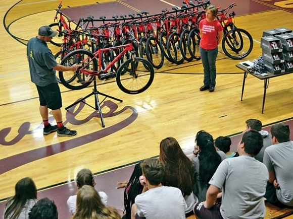 Mountain bikes roll into Swain High