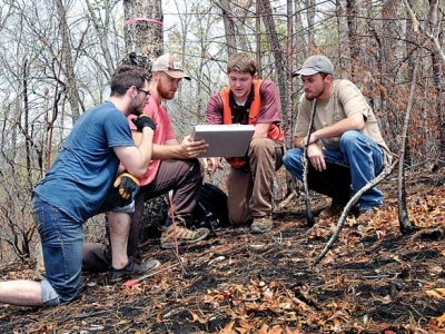 Wildfires as classrooms: WCU students study fire's effects on Dicks Creek drainage