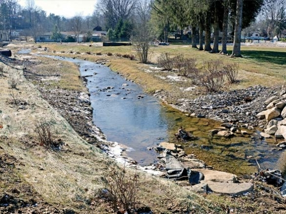 Watery restoration: Waynesville and partners restore stream flows, aquatic habitat
