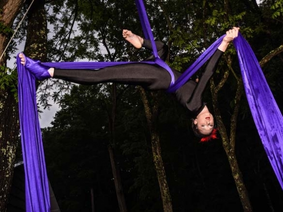 Flying on faith: Clyde woman finds strength and spirituality in aerial silks