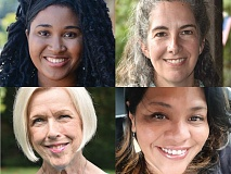 Clockwise from top, left: Natalie Newman, Mary Gelbaugh, Carrie McBane, and Barbara Hamilton.