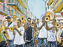 'The Rebirth Jazz Band' by Avery Rowan