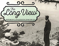 In an undated photo, Benton MacKaye surveys a future section of the Appalachian Trail.