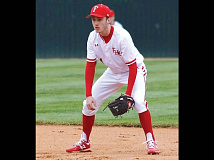 Trey Woodard stands ready at second base. Donated photo