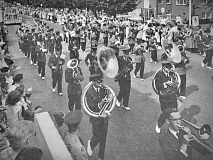 Even 40 years before this September, 1946 photo, Canton's Labor Day parade had made memories for thousands of spectators in Haywood County. The Log photo