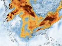 Black carbon mass density, July 21, 2021. https://earthobservatory.nasa.gov/images/148610/smoke-across-north-america