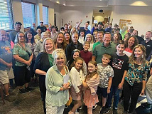 Dozens of people flooded the Waynesville Board of Aldermen meeting last week to protest a mask mandate that wasn't on the board's agenda. Donated photo