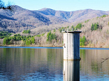 Rocky Branch Lake provides 6,400 Waynesville customers with high-quality drinking water. Cory Vaillancourt photo