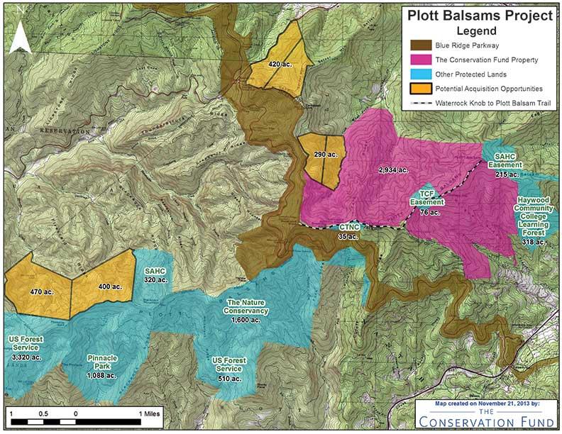 Plott Balsams region topo