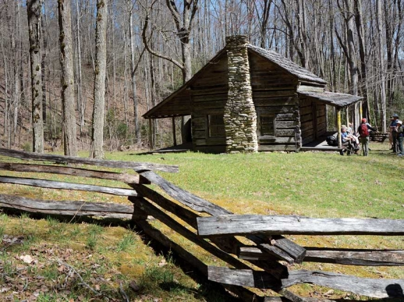 The Dan Cook cabin is one of three restored buildings in the Little Cataloochee area of the Great Smoky Mountains National Park. Holly Kays photo