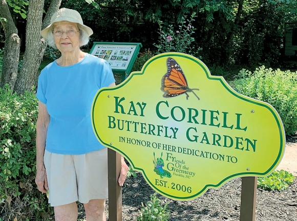 Franklin butterfly garden's honors long-time volunteer