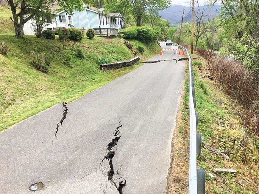 Sylva grapples with slope failure fix