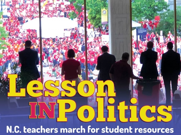 Teachers take to the streets: WNC teachers demand more money for public education
