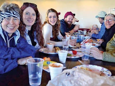 Trail town chow down: Franklin A.T. season launches with hiker meal
