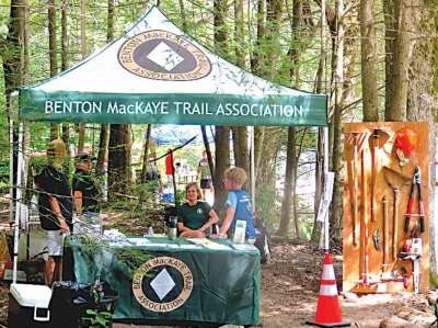Benton MacKaye Trail Association kiosk. Don Hendershot photo