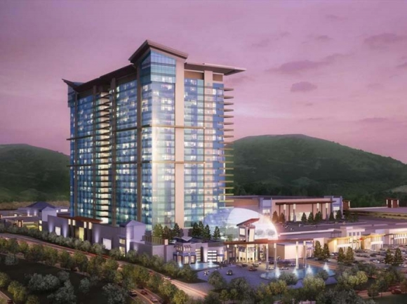 An artist rendering of the proposed casino.