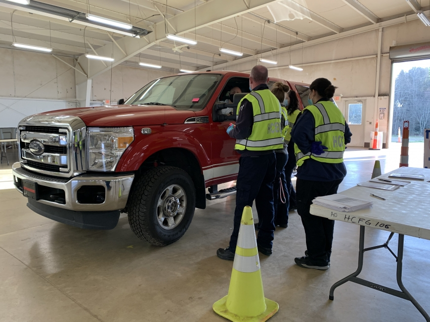 First responders vaccinated in Haywood County