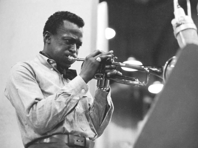 Miles Davis during the 'Kind of Blue' sessions.