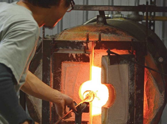 The Green Energy Park's glass blowing workshop is just one of the opportunities it offers artisans. File photo