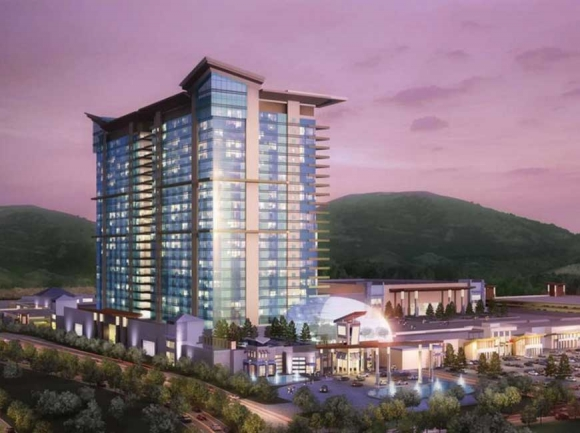 A rendering of the proposed Catawba Indian Nation casino.