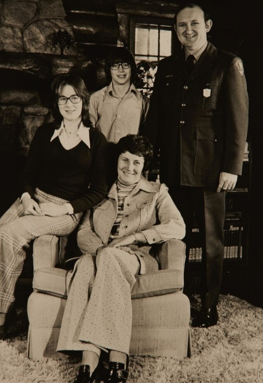 The Everhardt family. Back row: Phil Everhardt, Gary Everhardt. Front row: Karen Everhardt, Nancy Everhardt.