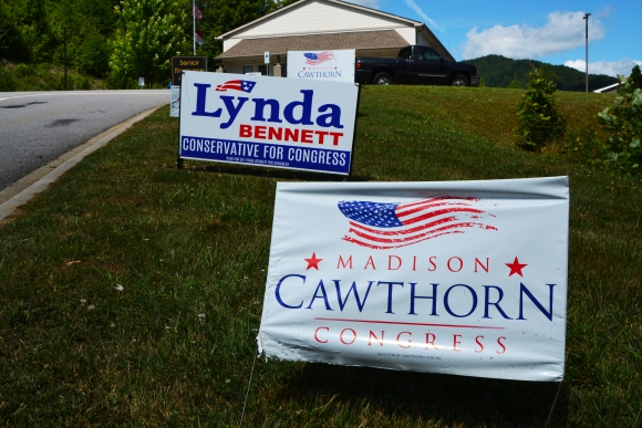 Lynda Bennett or Madison Cawthorn will face Democrat Moe Davis in the November General Election.