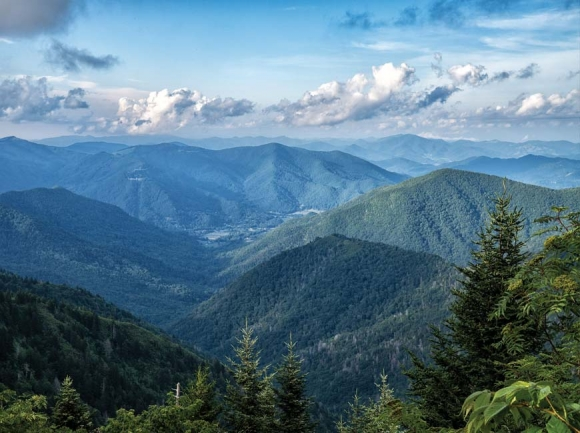 Thanks to ongoing conservation efforts, many of the peaks and mountainsides surrounding Maggie Valley are conserved. Val Keefer photo