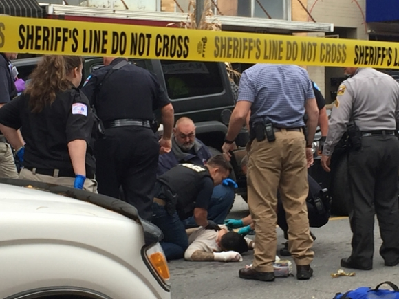 Jail escapee shot in downtown Waynesville