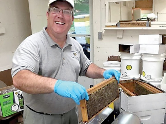 Haywood gets a honey extractor