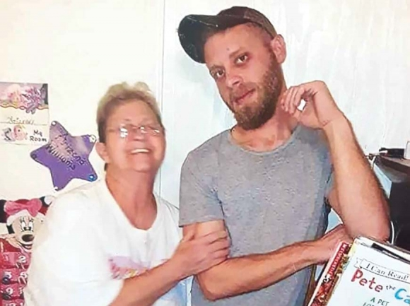 Justin Mitchell pictured with his grandmother, Loretta Farrow. Donated photo