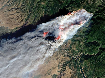 Photo of Camp Fire. NASA photo