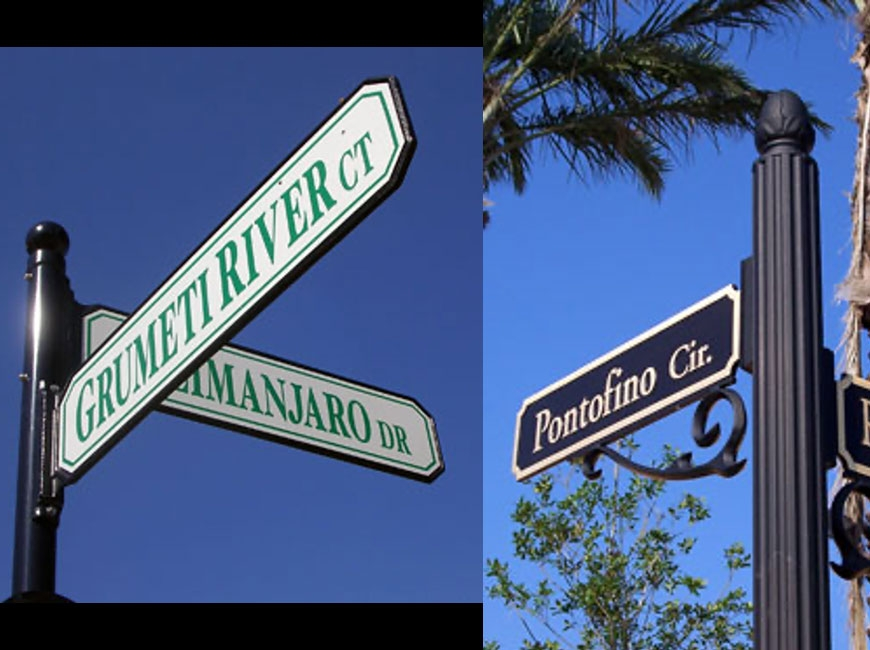 New street signs will soon come to Canton, courtesy of the Cruso Endowment. Town of Canton photos