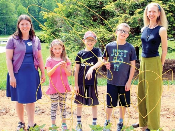 Learning by growing: Veggie garden a teaching tool for Swain students