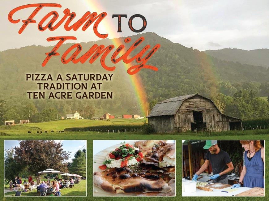 Haywood's biggest pizza party: Pizza nights at Ten Acre Garden grow community