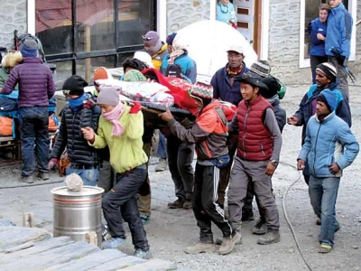 To save a life: Global village rallies for high-altitude rescue in the mountains of Nepal
