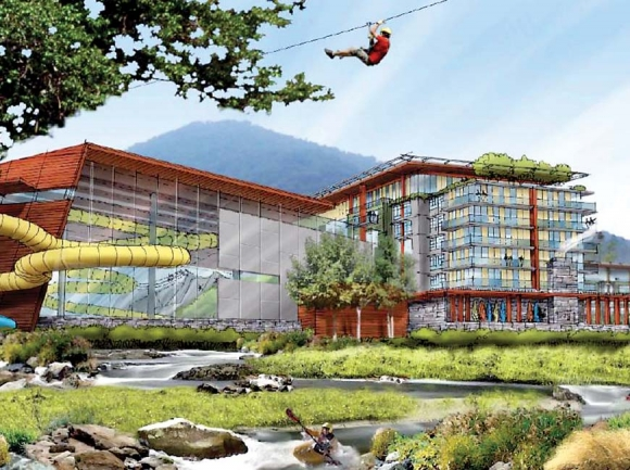 Cherokee started pursuing an adventure park concept in 2012 but wound up setting it aside. Iconica rendering