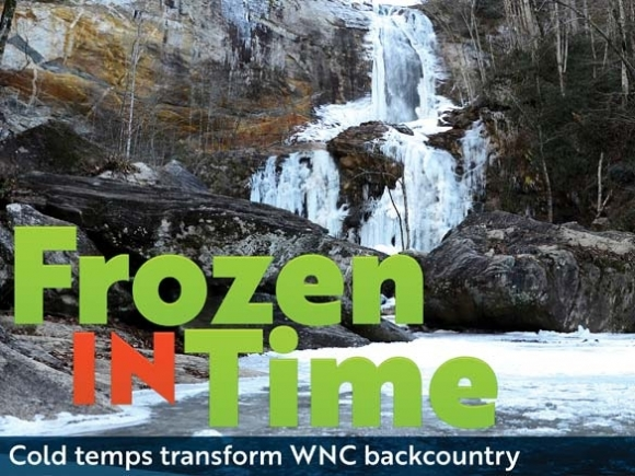 Deep freeze: Frozen waterfalls offer rare winter spectacle
