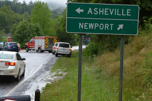 Interstate 40's westbound lanes in Haywood County are now closed indefinitely.