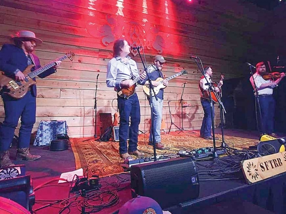 Songs From The Road Band on March 14 in Asheville. (photo: Garret K. Woodward)
