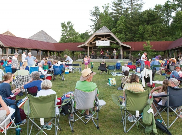Crowds gather at a past Groovin' on the Green event.