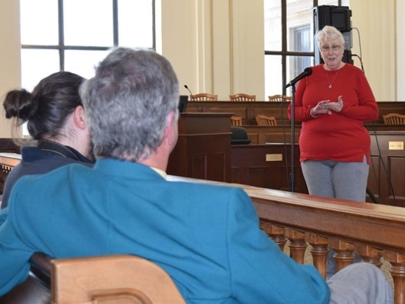 Clampitt's constituents walk away without answers