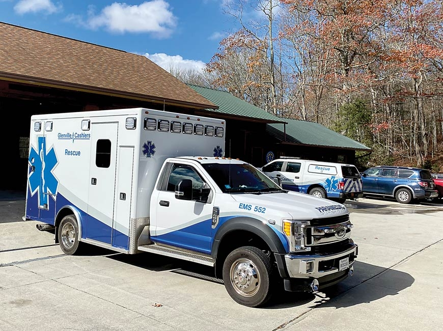 The Glenville-Cashiers Rescue Squad is a nonprofit organization that provides emergency services to southern Jackson County. Nat Turner photo