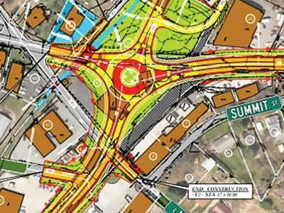 Roundabout for Walnut Street?