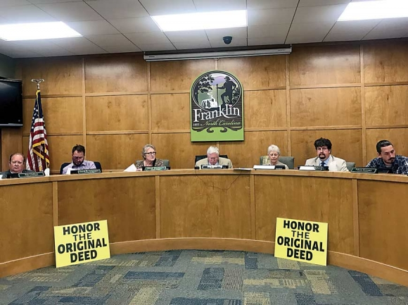 Franklin Town Council approved transferring ownership of Nikwasi Mound to nonprofit Nikwasi Initiative after months of debating the controversial decision. Jessi Stone photo